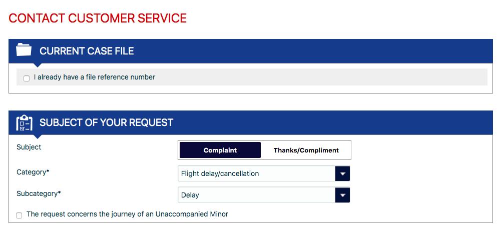Air France - formularz odszkodowania
